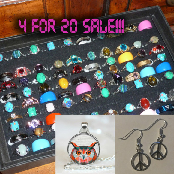 X-Rave Products Jewelry - JEWELRY - 4 / $20 - random rings necklace earrings